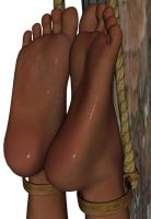 Sexy, bound, very tanned feet by ChrisFClarke