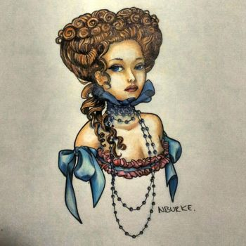 Lady in Pearls by nburkedesign