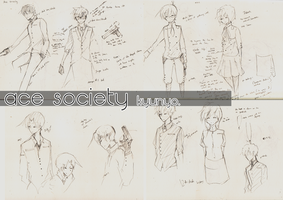 ace society sketches by kyunyo