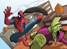 Spider-man vs Goblin by Granamir30