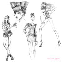 Fashion girls sketches 2011-01 by lanitta