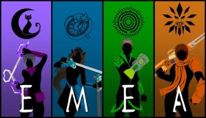 Team EMEA Silhouettes by Neonight92