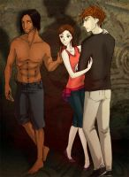 Bella Edward and Jacob by palnk