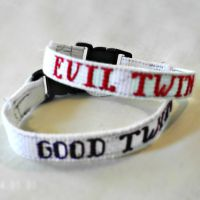 Good Twin/Evil Twin Bracelets by agorby00