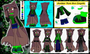 Amber Rae the Coyote Reference Sheet by TheMidnightMage