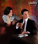 Twin peaks - Dale Cooper y Audrey Horne by KevinMonje