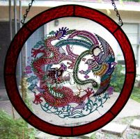 chinese cut paper dragon 2 by CindyCrowell