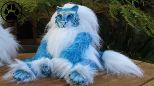 --SOLD-- Ice cat soft-bodied doll/sculpture plush. by CreaturesofNat