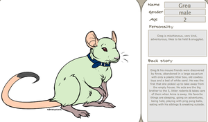 Greg the Green Rat by SpellboundFox