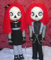 Goth Raggedy Ann and Andy 0822 by Zosomoto