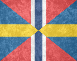 U.K. of Sweden-Norway ~ Grunge Mark (1844 - 1905) by Undevicesimus