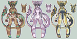 Set Price Anthro adopts 2/3 OPEN by Primeval-Wings
