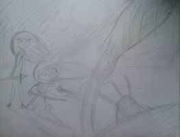Buster Bunny and Saeko Go Against Super Shredder by MIXTOONS