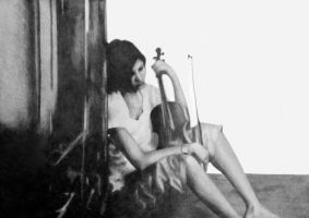 Cello Player by johnlanthier
