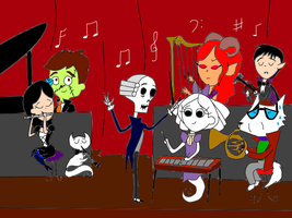 A Spooky-Cute Orchestra by Roses-and-Feathers