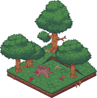 Forest Clearing [Isometric] by AprilSundae