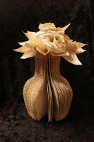 Small Flower Vase Book Sculpture by wetcanvas
