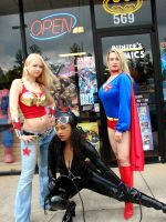 Wonder Girl Catwoman Supergirl by AlisaKiss