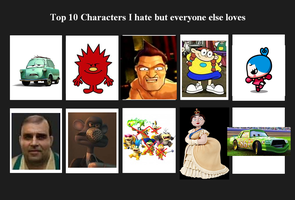 Top 10 I hate but everyone else loves by Paula432