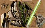 General Grievous Sketch Clone Wars by RCARADIO7