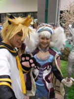 Anime Expo Day 3-  Melia and Len Kagamine (2) by MidnightLiger0