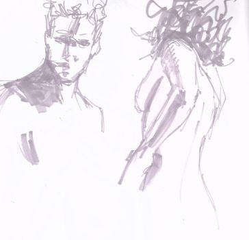 Life Drawing Marker Sketches by FredHooper