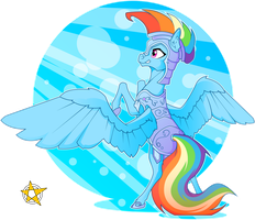 Rainbow Dash (Crystal Pony Armor) by AmberPendant
