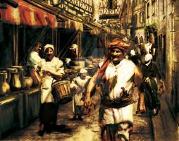 A stranger to the market by Strige