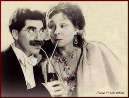 Margaret and Groucho by Pixie-Toki