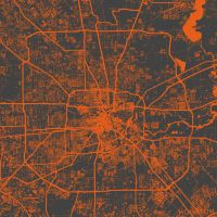 Houston by MapMapMaps