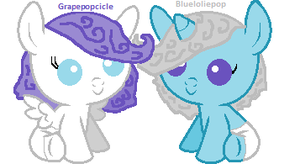 Grapepopcicle and Blueloliepop by babybunny80