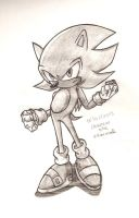 Super Sonic Sketch by DranzertheEternal