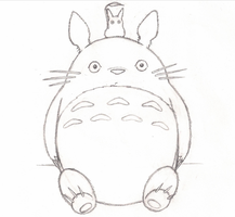 Totoro Line-art by Dragon-Art14