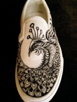 Peacock shoe by ewudeck