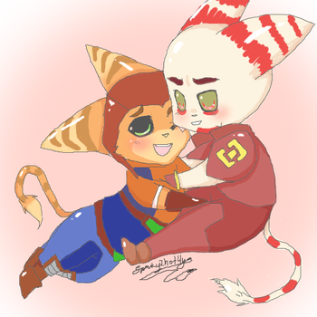 Alister and Ratchet Chibis by Sparky2hot4ya