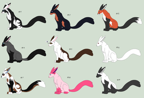 Free Adoptables batch 83 (Closed) by Kitty-of-Doom524