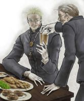 Priests at Scottish Pub. by nasumaru