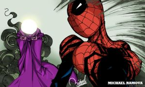Spider-Girl VS Mysterio by ramova