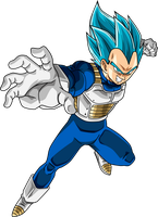 Vegeta SSJ Blue #2 by SaoDVD
