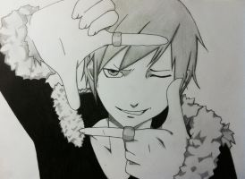 Izaya Orihara from Durarara by HighMangaDrawings