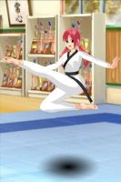 aerial kick by Hisui-lover