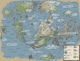 map of a made-up world by firemyface