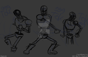 Papyrus Racket Sketches by last69skulls