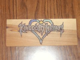 Wood-logo: Kingdom Hearts by kjcharmedfreak