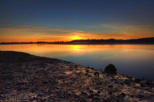 Sunset over Bolinas Lagoon by Doogle510