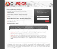 Landing page oil price by LETSOC
