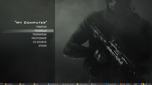 Modern Warfare 3  Rainmeter Launcher by DjChiLLiN