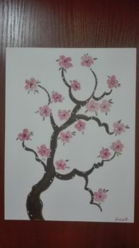 Cherry Blossoms Watercolour by AnneMarie1986