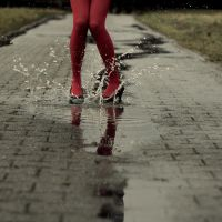 rain is the newest fashion by Rona-Keller