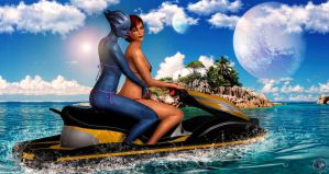 Jet Skiing by BarbDBarb